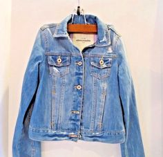 Abercrombie Kids Girl Blue Jean Jacket Distressed Denim XL Barely Used #AbercrombieKids #DenimJeanJacket #Everyday