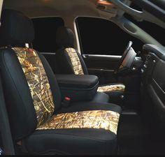 Neoprene Camouflage combo seat covers @Karen Starr this is what i want my seats to look lke Future Trucks, New Trucks, Cool Trucks, Chevy Trucks, Future Car, Camo Seat Covers, Camo Truck, Big Girl Toys, Lowered Trucks