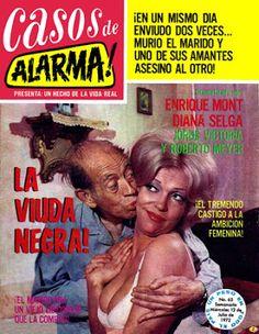"""Comics Mexicanos de Jediskater: Fotonovela Casos de Alarma! No. 65, """"La Viuda Negr..."""