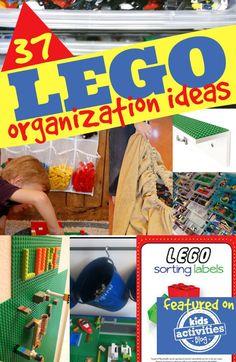 37 LEGO Organization Ideas - Kids Activities Blog http://kidsactivitiesblog.com/55067/lego-organization-ideas