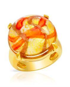VENETIAURUM Cocktail Ring 14k 925 GP Silver 24K Multicolor Murano Glass Sz 9 | eBay https://www.facebook.com/AColourfulPast