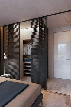 Creating an open closet does not require a lot of space, even you can store all your clothes in one room. See if you are able to create an open closet designWardrobe Door design = Brilliant Scandinavian Bedroom Design Ideas ~ Home Design IdeasProjekt Bedroom Closet Design, Closet Designs, Home Bedroom, Bedroom Decor, Bedroom Designs, Master Bedroom, Bedroom Ideas, Master Suite, Wardrobe Design Bedroom
