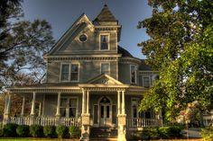 Front of Ashford Manor Bed and Breakfast, Watkinsville, GA at Dusk