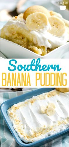 Homemade Cooked Southern Banana Pudding recipe from The Country Cook bread cake healthy muffins pudding recipes chocolat plantain recette recette Southern Banana Pudding, Homemade Banana Pudding, Banana Pudding Recipes, Southern Desserts, Easy Desserts, Southern Cooking Recipes, Trifle Desserts, Pudding Desserts, Apple Desserts