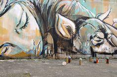 Impresionante mural de Alice Pasquini en Roma