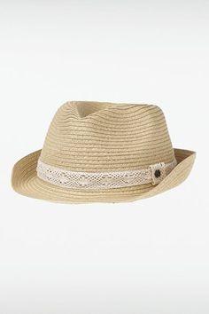 Chapeau de paille femme macramé