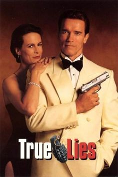 "True Lies ~ ""Harry Tasker is a secret agent for the United States Government. For years, he has kept his job from his wife, but is forced to reveal his identity and try to stop nuclear terrorists when he and his wife are kidnapped by the terrorists."""
