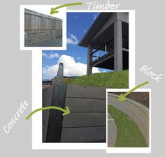 Different styles of retaining walls