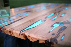 Photoluminescent Resin Glow Tables by Mike Warren 3