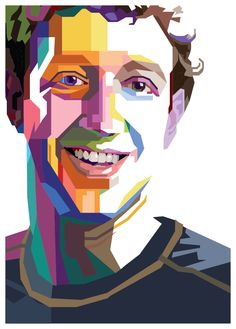 Mark Zuckerberg - Wedha's Pop Art Portrait