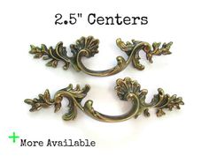 Pairs of Vintage French Provincial Drawer Pulls 2.5 by Fairyhome