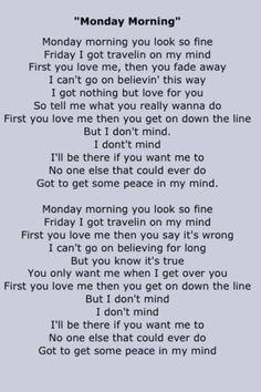 Fleetwood Mac Song Lyrics Rock, Pop Lyrics, Country Song Lyrics, Country Songs, Music Lyrics, Stevie Nicks Fleetwood Mac, Great Words, Greatest Songs, Playlists