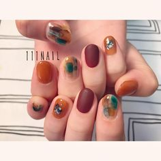 Thanksgiving nails fall nail