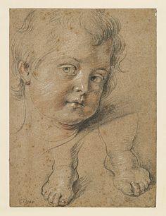 RUBENS Pierre Paul (1577-1640),Tête et pieds d'un enfant; Pierre noire, sanguine et craie blanche | Musée des Beaux-Arts et d'Archéologie