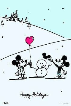 Free Disney Wallpapers ------Happy Holidays from Disney Artist Will Gay