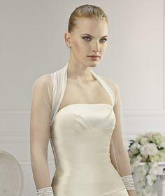 Simple 3/4 Length Sleeve Long Sleeve Tulle Wedding Jackets
