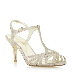 Roland Cartier Ladies MALINDA - Strappy Mid Heel Sandal - gold | Dune Shoes Online