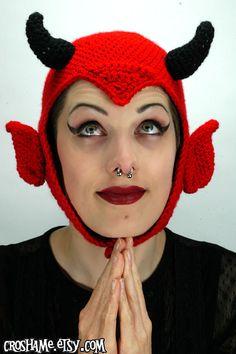 The Anton Crochet devil hat (available in sizes SM, MED, LG). $40.00, via Etsy.