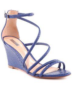 Schutz Carolah Snakeskin-Embossed Leather Wedge Sandal is on Rue. Shop it now.