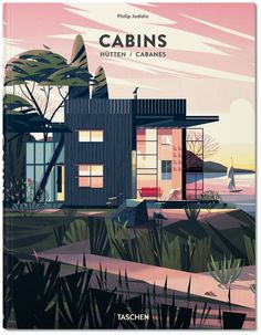 Great geometric simplified style landscape + building. Cabins by TBD