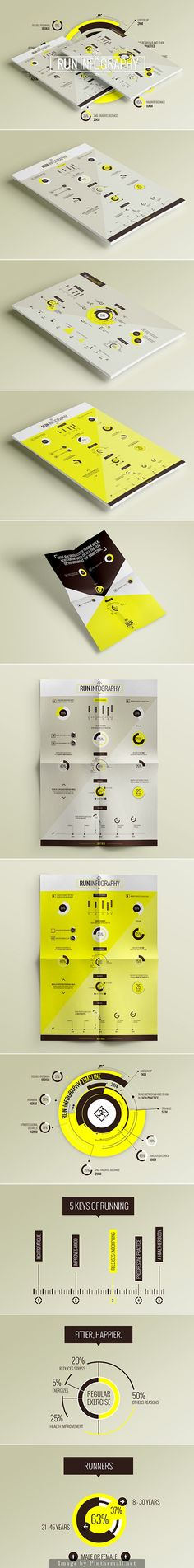 RUN / Infography Data Sheets by Martín Liveratore Share