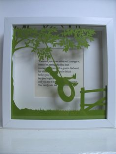 To Kill A Mockingbird framed paper cut art. Papercutting. book lovers gift. by PaversPaper on Etsy