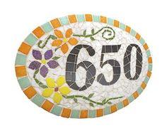 Número Residencial em Mosaico-A4