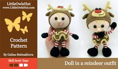 133 Doll in a Reindeer outfit Stelmakhova | Craftsy