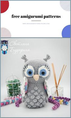 Amigurumi Owl with Folded Free Crochet Pattern - Amigurumi Patterns Owl Crochet Pattern Free, Crochet Patterns Amigurumi, Crochet Dolls, Free Crochet, Crochet Crafts, Crochet Projects, Crochet Owl Pillows, Owl Patterns, Website