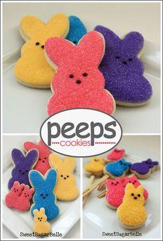 Adorable PEEPS cookies.