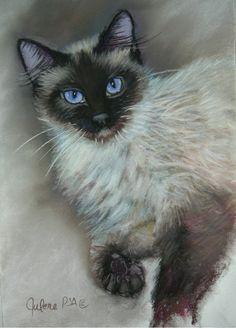 Princess-art print of a Siamese Cat.