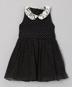 Love this Black Polka Dot Florine Dress - Infant, Toddler & Girls on #zulily! #zulilyfinds
