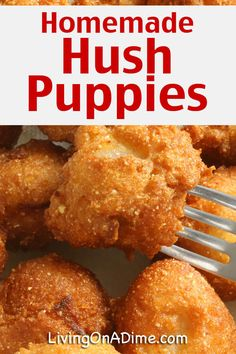 Homemade Hush Puppies Recipe – Living on a Dime To Grow Rich Homemade Hush Puppies Recipe – Living on a Dime To Grow Rich,Bread & Co. If you love Long John Silvers Hush Puppies. Fried Fish Recipes, Seafood Recipes, Appetizer Recipes, Cooking Recipes, Appetizers, Soul Food Recipes, Catfish Recipes, Fast Recipes, Salad Recipes