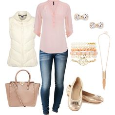 Blush is in the air - daytime chilly outfit by firstandchic on Polyvore featuring Joules, Valentino, Charlotte Russe and Sole Society