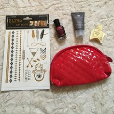Beauty bundle Includes 4 items!-Comes with bling temporary tattoos, Zoya nail polish (color: Blair), Templespa aromatic bath and shower gel, and Juara clove flower turmeric serum for face. Great deal!-All products BRAND NEW!! Sephora Makeup