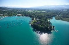 Klagenfurt, Austria - never seen more turquoise water since. Summer Travel, Time Travel, Places Around The World, Around The Worlds, European Road Trip, Klagenfurt, Carinthia, Voyage Europe, Central Europe