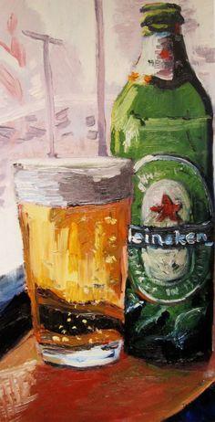 painting of a heineken bottle - Google Search