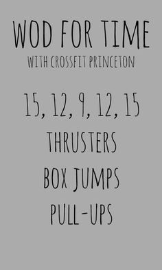 crossfit princeton wod for time - for 50 states in a year