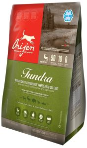 ORIJEN Tundra Freeze-Dried dog food features ranch-raised venison, bison and elk, cage-free duck and quail, steelhead trout plus whole fruits, vegetables and berries - all delivered to our kitchens FRESH and then gently freeze-dried to lock in their fresh food goodness and taste.