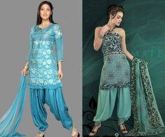 Latest Indian Wear Punjabi Patiala Salwar Kameez Suits. #patialasalwar, #patialakameez, #indiansalwarkameez , #salwarkameez