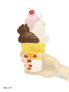 Bunny Bear 아이스크림  인스타그램(@nananssol)