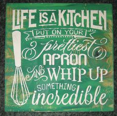 Life is a kitchen....subway sign/wall by hilltopprims on Etsy
