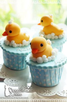 Rubber Ducky Cupcakes  Cute Baby Shower cupcake idea  This has got to be the cutest thing I've ever seen!