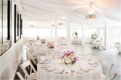 Southern California Bride: The Sunset Restaurant Beach Wedding by H. White Special Events Flowers by Blossom Floral, Inc.