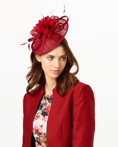Phase Eight Zoe Disc Fascinator Red Wedding Guest Fascinators 17d68a893bfe
