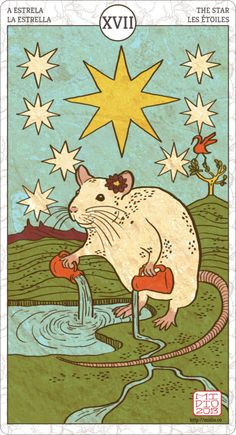 Muroidea Rat Tarot, The Star.