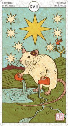 Muroidea Rat Tarot, The Star.
