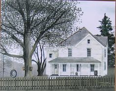 Billy Jacob Grandmas House Tire Swing Primitive Unframed Country Picture Print