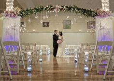 ceremony arch flowers