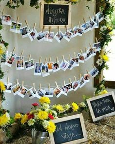 engagement party ideas decorations For today we have something really cool and motivational as you will see some cool examples of bridal photo displays that will make Diy Wedding, Rustic Wedding, Wedding Vintage, Wedding Ideas, Trendy Wedding, Graduation Party Decor, Wedding Reception Decorations, Reception Invitations, Diy Invitations